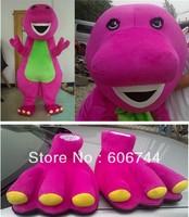 Best Quality Adult Barney Mascot Costumes Foam Head Free Shipping