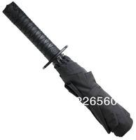 Free shipping 1Piece Mini Samurai Umbrella / Ninja Folding Sword Umbrella