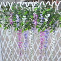 12pcs/lot 100cm/72cm 3 colors Artificial flower vine wisteria plants silk dried photography props home decoration free shipping