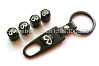 4 X Fancy Valve Tire Wheel Decorated Rim Caps With One Wrench Keychain For Infiniti