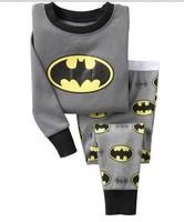 10style Batman baby pajamas kids jumpsuits long sleeve pajamas bodysuit kids sleepwear 6sets/lot ( 6 sizes), Free shipping