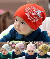 Free shipping New Arrival Cotton infant Beanie Baby Hat Children Hats Angel skull Cap For 6 month-3 Years Boys Girls BBC017
