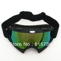 Black Motorcycle Motocross Bike Cross Country Flexible Goggles Tinted UV Goggle