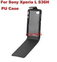 Flip Cover Case Mobile Phone Case PU Case   For  Sony Xperia L S36H C2105 C2104