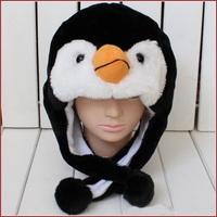 Free shipping Cartoon Animal Hat Penguin Winter Warm Cap Plush Hat