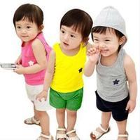 2014 new wholesale children suit  baby Clothing Sets  T-shirt +pants 2pcs kids boys girs summer Clothes wear 3Sets/lot