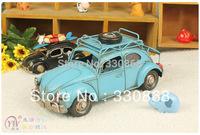 Beach theme party props photo frame metal craft vintage decoration iron car model
