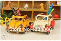 Pen holder Beach theme props Home decoration metal craft iron car model