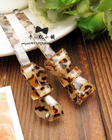 Fashion vintage accessories leopard print quality bow hair pin card clip hair accessory female
