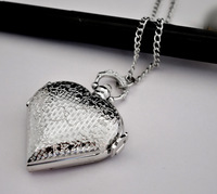 Heart pocket watch necklace vintage accessories necklace pocket watch
