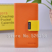 Lychee FILP High Quality Make Mate Leather case cover for ip Sony L36i L36h  100pcs Free shipping by DHL
