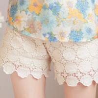 2013 summer sweet lace crochet shorts