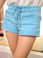 2013 women's faux denim stretch cotton candy color all-match shorts pants hot female