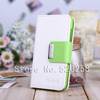 Lychee FILP High Quality Make Mate Leather case cover for ip HTC Desire VS T328d  100pcs Free shipping by DHL