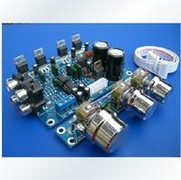 HIFI power amplifier TDA2030A 2.1 CH 3channel way BTL mega bass amplifier wiring kit for diy
