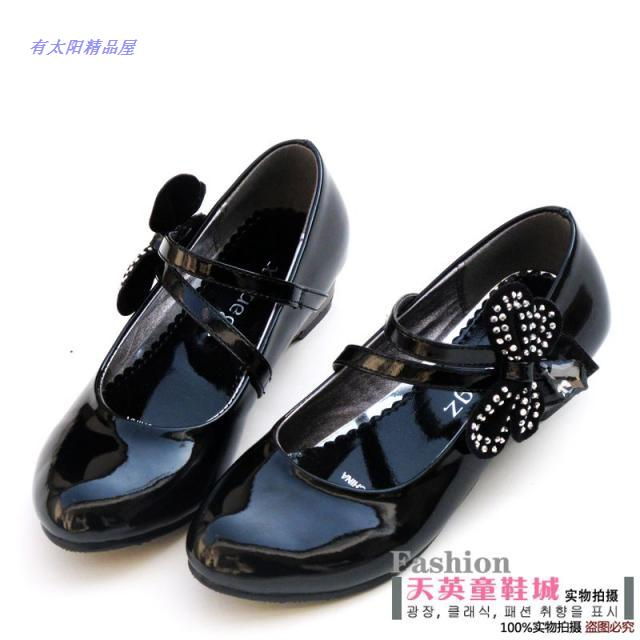 T female child performance shoes white princess shoes girls shoes white leath