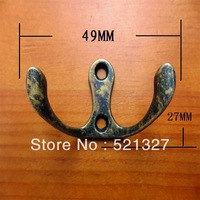 Antique alloy hook    thin trumpet hook wall hook  holes