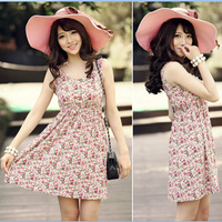 free shipping 2013 women's new fashion summer Floral Dress, casual dress for women
