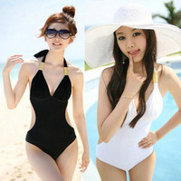 2013 bribed hot spring swimsuit triangle one piece sexy slim female swimwear 29216