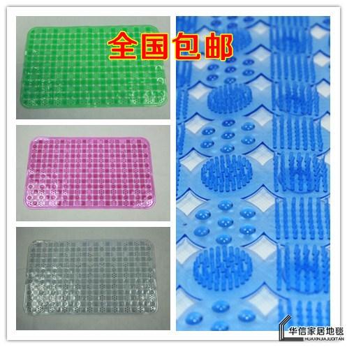 Free shipping 50 80 bath mat Large pvc bath mat bathroom mat slip-resistant gadders mats(China (Mainland))