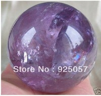 RARE Natural AMETHYST QUARTZ CRYSTAL SPHERE BALL 50MM + STANDFashion jewelry