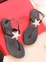 2013 spring and summer gz flat heel rhinestone flip sandals