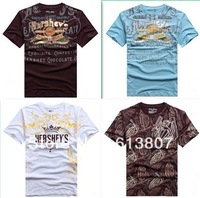 European and American original single-XL cotton round neck short sleeve T-shirt simple letters printed T-shirt men wild