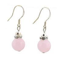 Natural crystal blue chalcedony powder white tridacna earring 925 pure silver drop earring Women earring