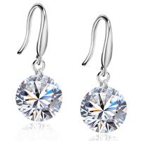 Silver earrings s925 pure silver female accessories shining cubic zircon stone drop earring anti-allergic