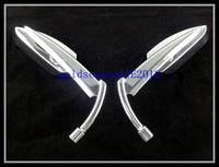 Freeshipping Chrome  Blade Side Mirrors for Harley Yamaha  Honda Kawasaki Suzuki  Motorcycle Cruiser Chopper Custom