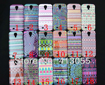 Free shipping 10pcs/lot  New clothes beautiful decorative pattern plastic shell  Cover Case For Samsung Galaxy S4 SIV i9500