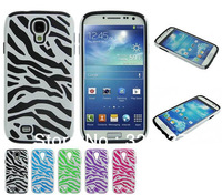 Hardshell Hybird Case 2 in 1 Silicon inner layer outer layer PC For Samsung Galaxy S4 S IV i9500, 500pcs/lot free DHL shipping