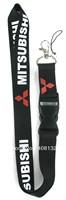 Free Shipping men's MITSUBISHI  Car Logo mobile Phone lanyard mobile neck strap wholesaler ID Holders