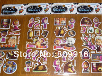 Single sale Masha and bear wall stickers for kids Free shipping wholesale