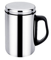 Vacuum glass office cup, gift cup non-magnetic stainless steel cup 500 ml