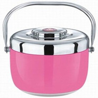 red  stainless steel double layer lunch box heat preservation bucket lunch box mealbox cabarets food carrier 1.8L