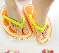 2013 Fruit Summer Beach Slip-resistant Slippers Flat Flip Flops Shoes EVA Grapes Watermelon Garden Sandals Slides Free Size