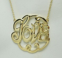 New arrive 2013 big LOVE pendant necklace ,fashion necklace ,Min order $15