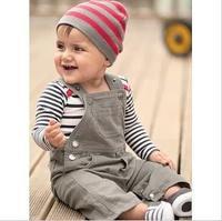 2014 Children's Clothing  boys Clothing Sets baby  kids boys Long sleeve clothes suspender pants set for children 3pcs,5sets/lot