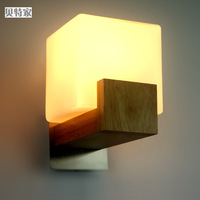 Brief modern wall lamp wooden wall lamp personalized wall lamp wood stair ofhead lighting