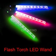 #Cu3 LED Magic Wand Color Changing Flash Torch Party Concert Glow Light Stick(China (Mainland))