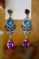 Min.order is $15(mix order)2013 Fashion Jewelry Europe Street beat vacation  earrings Color Rhinestone earrings