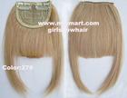 1pc człowieka frędzle włosów grzywka 100% prawdziwe ludzkie remy spinkę do włosów w rozszerzeniach huku prosto kolor 27 # (Chiny (kontynentalne))