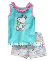 2013 Children's cartoon pajamas Pjs girl's Pyjamas,100% cotton baby kids pajamas Children Sleepwear summer sets 6sets/lot
