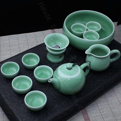 chinese cheap celadon fine kung fu tea set(China (Mainland))