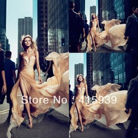 2012 Anja Rubik long strapless sweetheart elie saab celebrity dress MX006