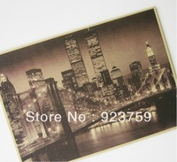 "Vintage Style Retro Paper Poster Good Gifts,16"" x 11"" USA Brooklyn Bridge"