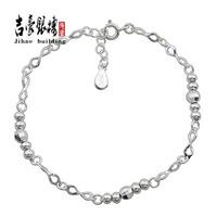 999 pure silver bracelet fine silver 999 s990 pure silver bead transfer flash bracelet Women