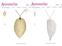 Accessorize . dream blade long design necklace