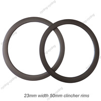 23mm width 50mm clincher carbon road bike rim,carbon bicycle rims